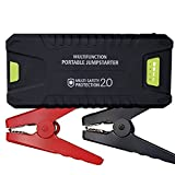 1000A Peak 20000mAh 12V Portable Car Jump Starter (All Gas or 8.0L Diesel) Power Bank with Dual USB 3.0 Smart Quick Charging Port, Battery Booster with LED Flashlight by Tureal