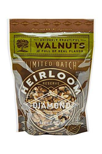 Diamond of California, Heirloom Walnuts, Non GMO, No Added Salt, 7 Ounce (Pack of (7 Piece Pecan)