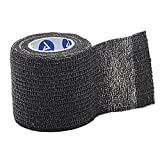 Dynarex Sensi-Wrap - Self-Adherent Compression Bandage Rolls - For Tattoo & Medical Use - 1.0'' x 5 yds - Black - 30 Count