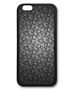 iCustomonline Noble Flowers Damask Case for iPhone 6 Plus (5.5) Soft TPU Black Black by runtopwell