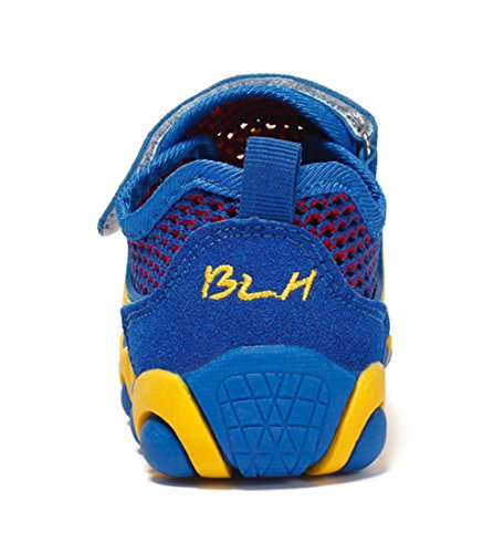DADAWEN Trekking Wanderschuhe Jungen Atmungsaktive Sneaker Mädchen Outdoorschuhe Sportschuhe Blau
