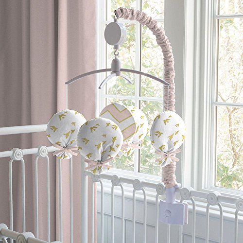 Carousel Designs Pale Pink and Gold Chevron Mobile by Carousel Designs