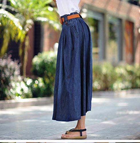 Jupe Vintage d't Sans Robe Robe Plisse de Cowboy Snone Taille Rtro Maxi Femmes Jupes Jupe Longue Rtro Jupe Bouton Haute EUxq6Tw