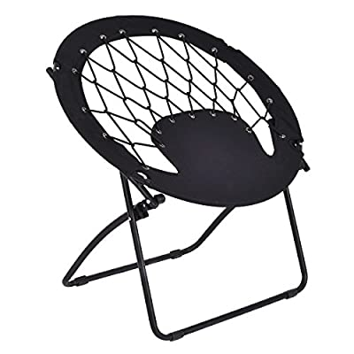 Giantex Folding Round Bungee Chair Steel Frame Outdoor Camping Hiking Garden Patio