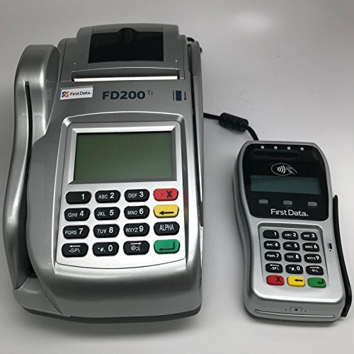 FD-200ti Credit Card Terminal and FD-35 PINpad with Injection by FIRST DATA