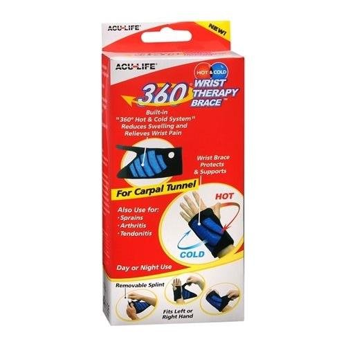 Acu-Life 360 Degree Hot & Cold Therapy Wrist Brace 1 EA - Buy Packs and Save (Pack of 2) ()