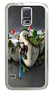 Samsung Galaxy S5 cassette covers Abstract Eco System PC Transparent Custom Samsung Galaxy S5 Case Cover