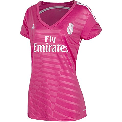 8f26f517b3ae4 adidas Camiseta Real Madrid Away Mujer Blast pink Talla 160 - XS   Amazon.es  Deportes y aire libre