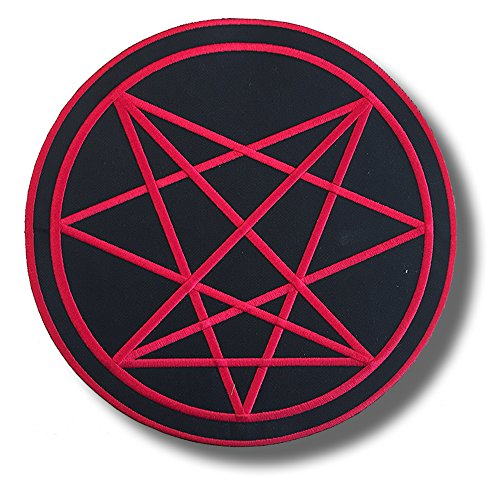 Order of nine angles, satanic symbol b/r round - embroidered patch, BUY 3 GET 4, 3,2 X 3,2 - Satanic Shop