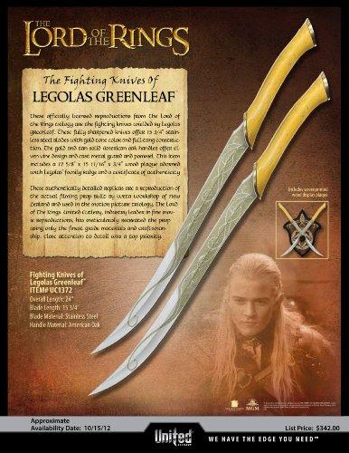 United Cutlery UC1372 Legolas Greenleaf Fighting Knives