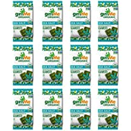 gimMe Organic Roasted Seaweed - Sea Salt - 12 Count - Keto, Vegan, Gluten Free - Great Source of Iodine and Omega 3's - Healthy On-The-Go Snack for Kids & Adults