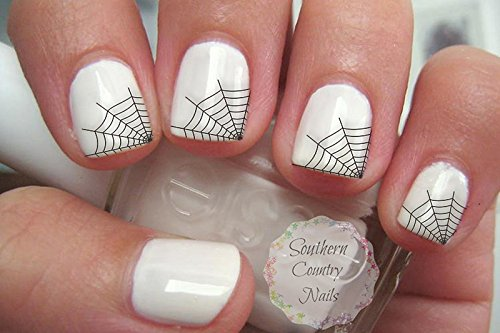 Spider Web Nails (Spider Web Tips Nail Art Decals)