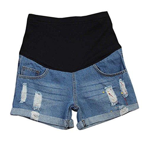 Doux Style2 soutien lastique Shorts Mode de Jeans Hzjundasi Denim Maternit ventre Femme 6CfIaqw1