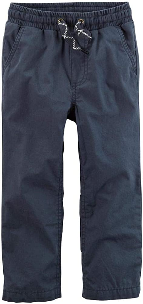 Carters Baby Boys Steel Grey Jersey-Lined Utility Pants 3 Months