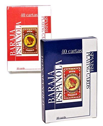 2 cubiertas de español naipes - 40 Tarjeta cubierta para ...