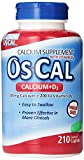 Os-Cal 500 + D, Calcium 500 mg. D3 200 I.U., 210 Coated Caplets Pack of 6