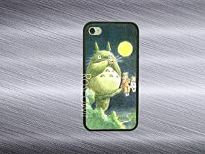 Iphone 4 case - Totoro on tree iphone 4s case rubber iphone case