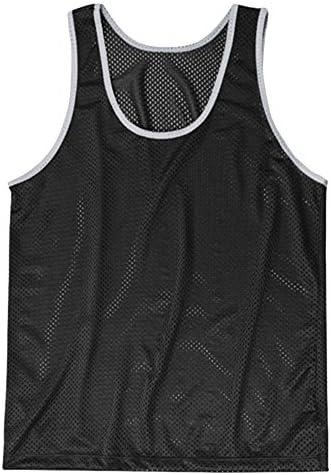 American Apparel - Camiseta de tirantes ligera de tejido de rejilla Unisex hombre mujer (Grande (L)/Negro/Plata): Amazon.es: Ropa y accesorios