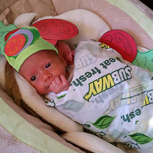 6 12 Month Halloween Costumes (Baby Halloween Costumes - Subway Sandwich Costume w Hat - Photography Props for Newborn Pictures Infant Boy Girl 0-3 6-9 12-18)