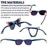 COCOSAND Baby Sunglasses with Strap, Navy Blue