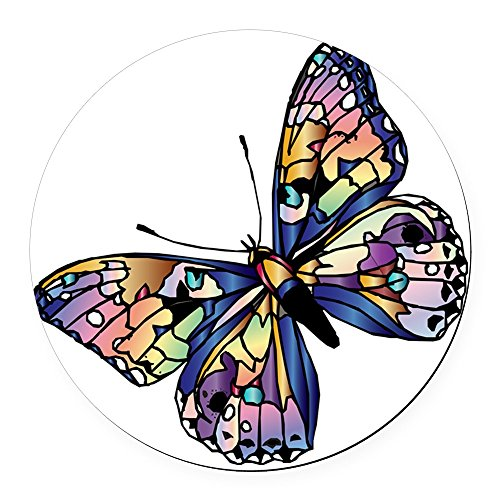 CafePress - Exotic Butterfly - Round Car Magnet, Magnetic Bumper Sticker