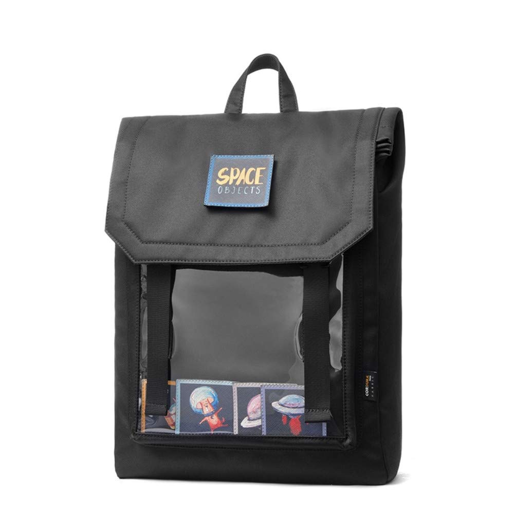 Laptop BackpackBusiness Computer Bag LargeCapacity Backpack Men and Women Fashion Stickers Backpack Leisure Travel Computer Bag School Bag