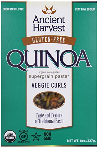 Ancient Harvest, Pasta, Quinoa Vegie Curls, Wheat Free, 8 oz
