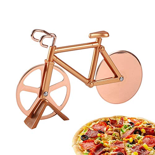 TDCQ Fiets Pizza Cutter,Fiets Pizza Cutter Wheel,Fiets Pizza Cutter RVS, Fiets Pizza Cutter Wiel, Pizza Wheel Cutter…