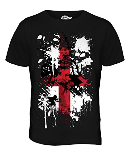 - CandyMix Men's England St. George Cross Abstract Flag Print T Shirt T-Shirt Top, Size X-Large, Color Black