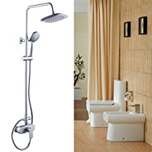 DLBAN Space Aluminum Satin Finish Top Spray Hand Shower Bath Hot And Cold Constant Temperature Bath Rain Shower