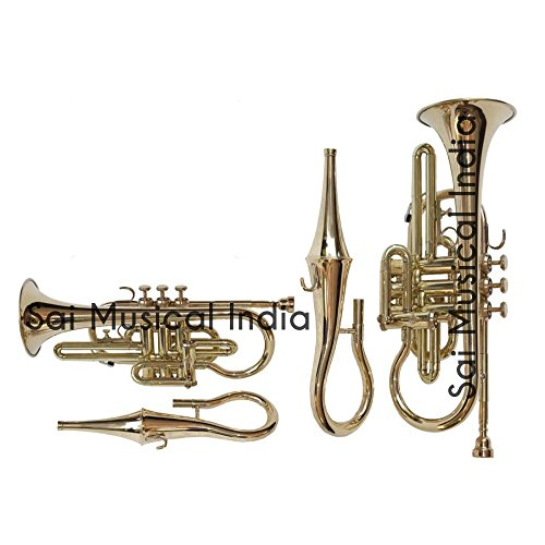 Used, Queen Brass Cornet 4 Valve With Mute Shinning Brass for sale  Delivered anywhere in USA