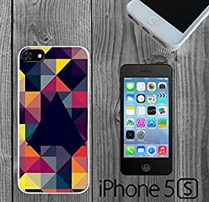 LJF phone case Colorful Triangle Digital Pattern Custom made Case/Cover/skin FOR iPhone 5/5s