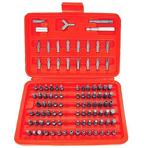 Security Bit Set Of 100 – Heavy Duty and Durable Set of Security Bit Set – Tools & Home Improvement, Power Fastening Tool Parts & Accessories, Screwdriver Bits, Specialty Bits – By Katzco