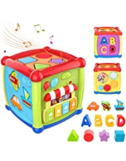 Willcome 6 in 1 Musical Activity Cube Toy Shape Blocks Educational Learning Toys for Baby Toddlers Ages 12 Months+