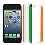 Apple iPhone 5c Ultra Slim Light Weight Clear Plastic Cover Case By SkinGuardz - Irish Flag
