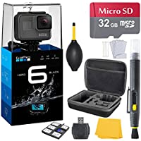 GoPro HERO 6 Black + 32 GB Micro SD Memory Card + Case + Accessory Bundle