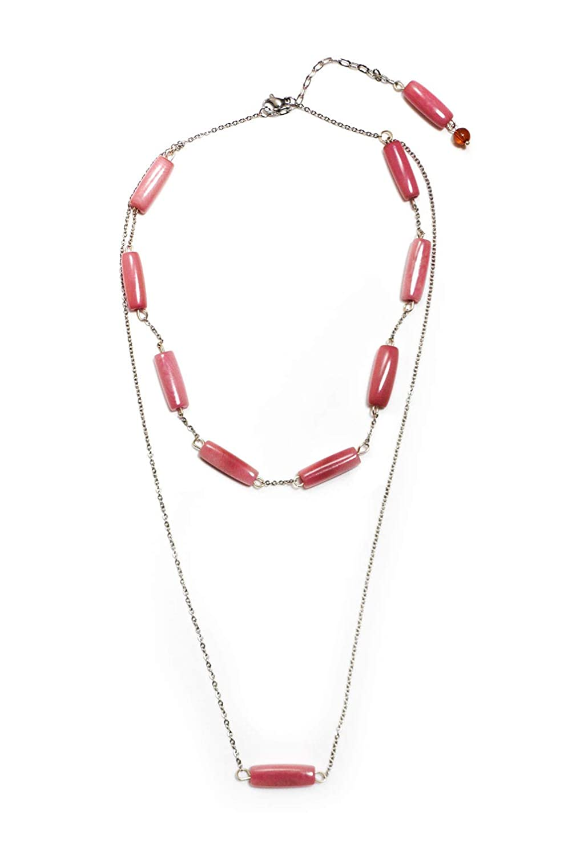 Yuyari Village Stick Pendant Double Strand Necklace