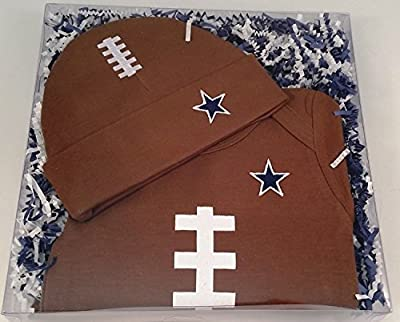 Dallas Baby Football Onesie & Football Hat Gift Set