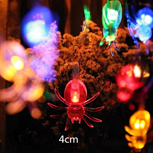 Freddy Trick Arm (Elevin(TM)2017 Happy Halloween 1.2M 10LED Spider String Lights for Halloween Party Window Decor LED Light (Multicolor))