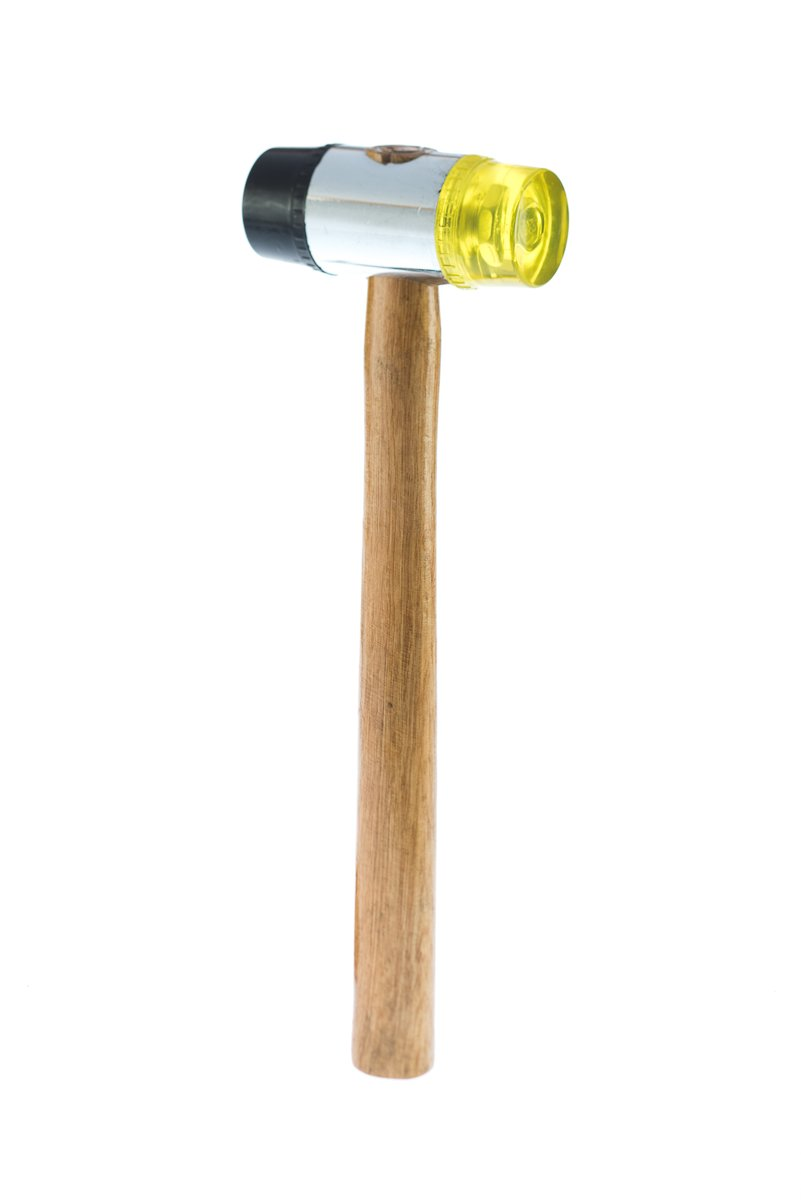 SE 8322PM-16OZ Dual Plastic Head Mallet with Wooden Handle, 16 oz by SE