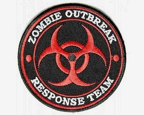 (ZOMBIE OUTBREAK RESPONSE RED Funny MC Embroidered Quality Biker Patch)