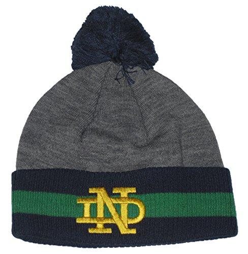 うそつき気まぐれな教えるNotre Dame Fighting Irish NCAA Mitchell & Ness (ts270 ) ヴィンテージボールトップグレーチームカラーCuffed Knit Beanie Hat