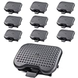 Under Desk Foot Rest, Black Footstool & Office Ergonomic Footrest, Adjustable Angle & 3 Different Height Positions, 18.1'' X 13.3'' - Great for Home & Work - 10 Pack