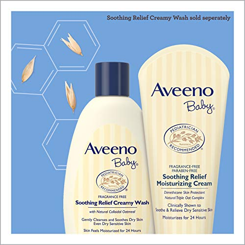 Aveeno Baby Soothing Relief Moisture Cream Fragrance Free, 227g