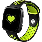 DEKER for Fitbit Versa Bands for Women Men Small Large Wrist, Breathable Soft Fitness Sport Silicone Strap Replacement Accessories Wristbands for Fitbit Versa Smart Watch