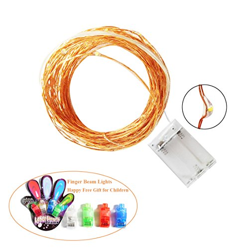 Flasso Led String Lights Battery Powered Warm White Starry Lights With 50 Fairy Bright LEDs on 16.4 ft Copper Wire-Best Decorations for Wedding Halloween Christmas Party Living Room (Best Halloween Costumes Fails)