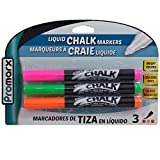 (Pack of 48, 144 Ct) Promarx Liquid Chalk Markers Pink Green Orange 3ct