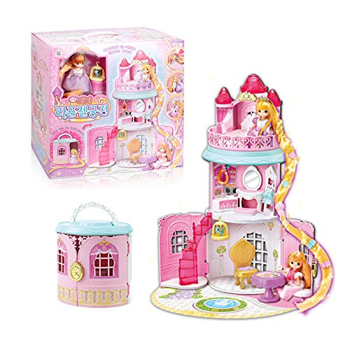 [Little Mimi Rapunzel Castle, Little Princess House Toy for Girls] (Disney Princess Cinderella Prestige Costumes For Babies)
