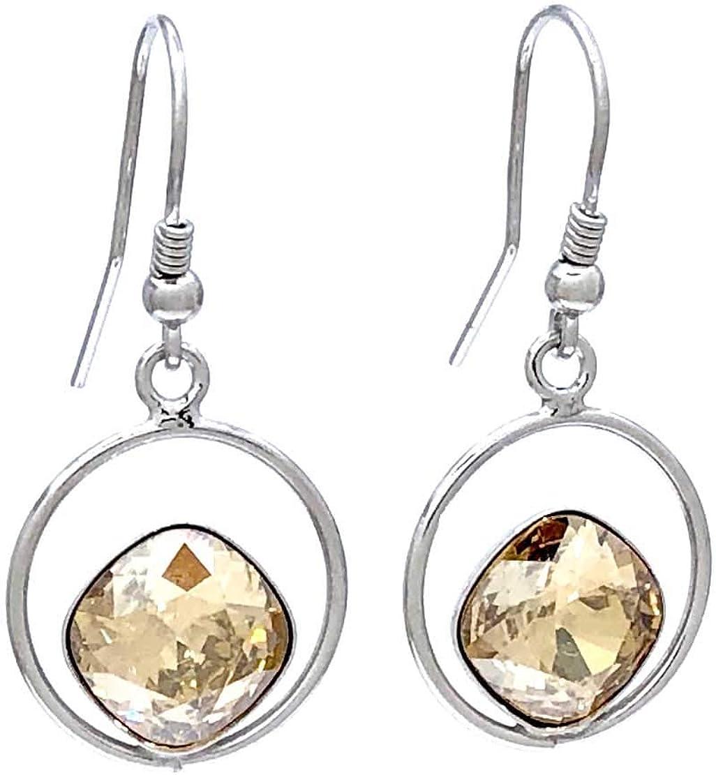 Pendientes mujer Plata 925 rodiada con cristales Swarovski, siempre brillantes, pendientes largos para mujer, pendientes plata 925