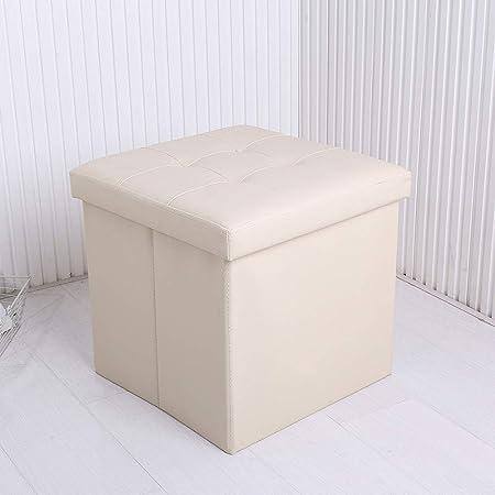 kkyrjd Pouf a cubo con vano portaoggettiSgabello Pieghevole